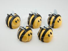 Custom bumblebee cake balls for a great personalized birthday gift.