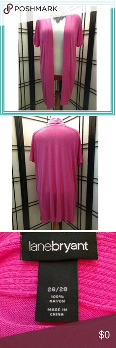Lane Bryant Pink Sweater Lane Bryant pink sweater. Worn maybe once. Size 26/28. Lane Bryant Sweaters