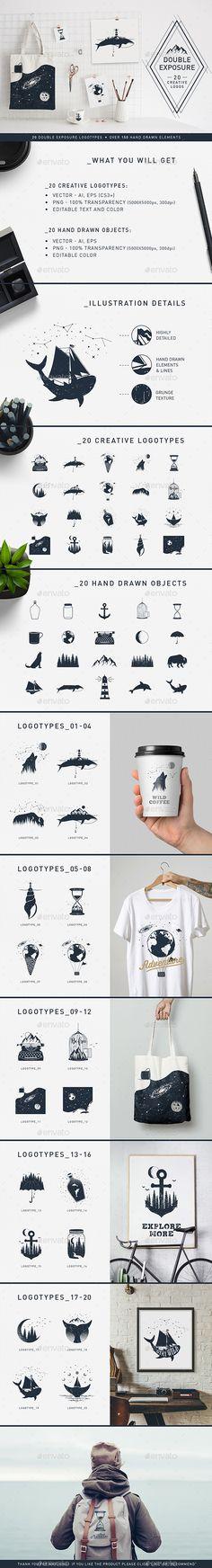 #Double Exposure. 20 Creative #Logos - #Vectors