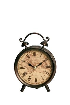 Just for the rustic classics!  Metal Table Clock by Iron Trade Imports on @HauteLook
