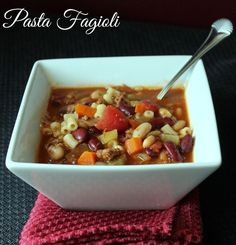 This copycat Olive Garden Pasta Fagioli Soup tastes just like the original!