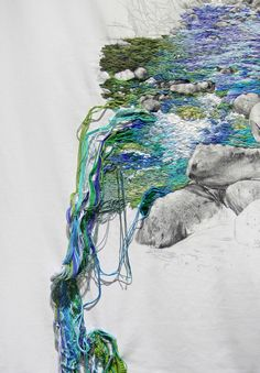Embroidered Landscapes by Ana Teresa Barboza | http://inagblog.com/2015/12/ana-teresa-barboza-update-2/ | #embroidery #art