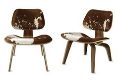 Brown Design Eames Molded Plywood Lounge Chair
