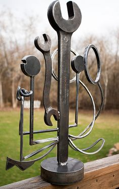 Welded Steel Sculpture - Slightly angled on Flickr.Javos Ironworks