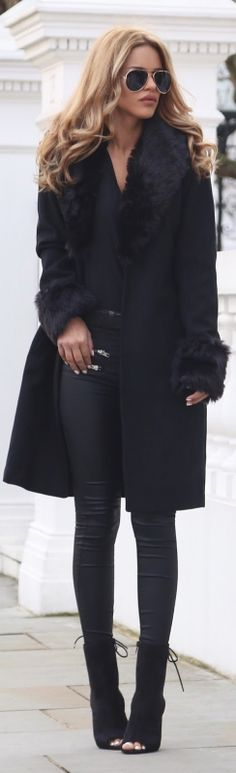 Fur Collar / Fashion Look by Nada Adelle #fashion
