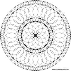 Circles mandala to print and color- also available in a smaller jpg version