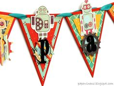 PaperVine: Do the Robot! Boy's Banner with Technologic
