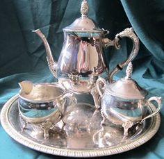 Victorian Silver Tea Set $80