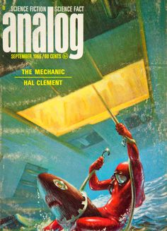 1966 Cover Analog Science Fiction Fact Art Frank Kelly Freas Hal Clement YSFC4