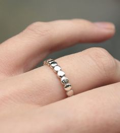 Amelia Silver Dots Ring-I love simplicity.