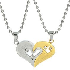 Hollow Heart Puzzle Necklace Set – Valyria Jewelry