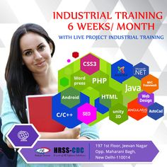 6 Months Project Based #IndustrialTraining in Delhi NCR, India in various IT program  - Web Development, Web Designing, Ethical hacking, Networking, Internet Marketing, Cloud Computing, Business Analysis and more for final years students. New Batches are going to be start.