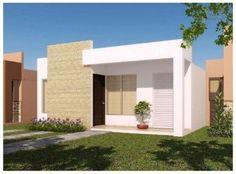 fachadas de casas modernas de un piso pequeñas