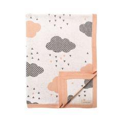 Powder Blush Rainy Day Baby Blanket