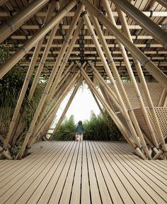 Rising Canes by Penda #BeijingDesignWeek #rendering #bamboo