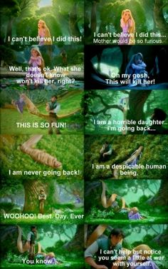 """Tangled"" --- lol! One of my favorite parts."