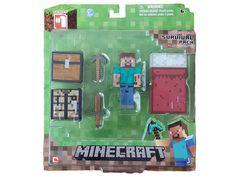 Minecraft Game Overworld Core Player Survival Kit Pack with Steve Figure Toy Minecraft Shops, Minecraft Games, Cool Minecraft, Minecraft Party, Hot Toys Iron Man, Mega Pokemon, Minecraft Christmas, Minecraft Bedroom, Survival Kit