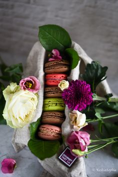 Capturing local macarons and flowers from Galway City