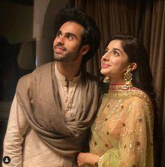 Pakistani Dramas, Pakistani Actress, Celebs, Celebrities, Hot Topic, Newlyweds, Couple Goals, Wedding Bride, Sari