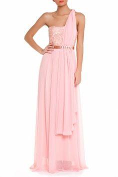 Vestido comprido, estilo grego