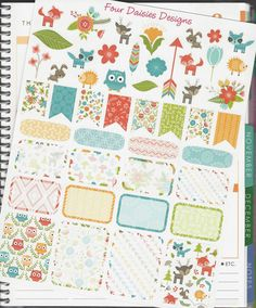 47 Woodland Themed Stickers for Erin Condren Life Planner, Plum Paper, Filofax or Kiki K Planners, Calendars or Scrapbooks by FourDaisiesDesigns on Etsy