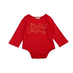 Pudcoco New Red Baby Romper Infant Baby Boy Girl Christmas Long Sleeve Romper Letter Jumpsuit Cotton Blend Playsuit Baby Outfit Toddler Boy Romper, Baby Girl Romper, Baby & Toddler Clothing, Infant Girls, Children Clothing, Girl Clothing, Newborn Outfits, Baby Boy Outfits, Red Romper