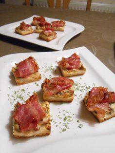 Bacon - Tomaten - Frischkäse Häppchen, ein raffiniertes Rezept aus der Kategorie Warm. Bewertungen: 270. Durchschnitt: Ø 4,6.