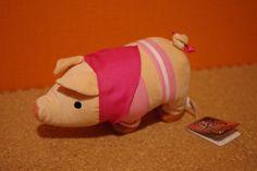 Monster Hunter Poogie Pugee Pig Walking Music Plush Figure Pink Stripe Japan JP