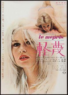 Le Mepris (Contempt!) starring Brigitte Bardot. Japanese movie poster