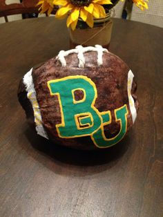 """Coconut football from the Bahamas! Guy painted the #Baylor logo for me as best he could from memory. #SicEm"" (via kyleighhey on Twitter) #BaylorEverywhere"