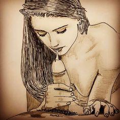 Tasty #Cum #zeuma #zeuma_erotic #drawing #sketch #body #sex #art #artist #fellatio #erotyka #eróticart #hot #sexy #lips #dick #pene #polla…