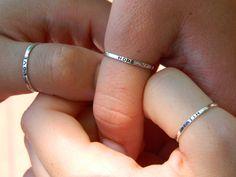 """faith, hope, love"" friendship rings"