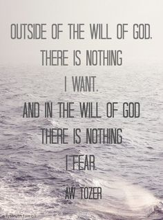 A.W. Tozer quote on the will of God.