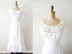 e4700a7b61 vintage edwardian slip   1900s white cotton nightgown   lace princess slip  Lace Bandeau