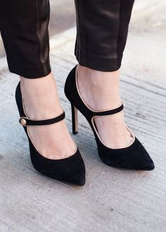Pants that hit at the ankle are just right for showing off your new pair of Mary Janes