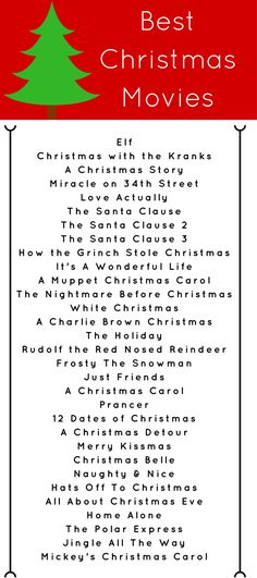 BEST CHRISTMAS MOVIES --> click through for MORE