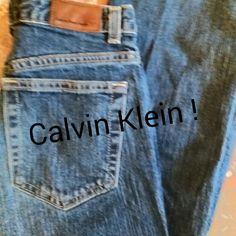 """Calvin's Stretch Crop Darker than pic shows. See pic 2. Waist 28"""".. Inseam 28"""" & Rise 10"""". Calvin Klein Jeans Boot Cut"""