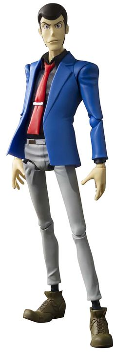 """Bandai Tamashii Nations Lupin the Third """"Lupin the Third H Figuarts"""" Action Figure. Product replicates the anime design and look and is perfect for any collection. Product comes well sculpted and engineered to provide customers best product experience. Bears Official Bluefin Distribution Logo."""