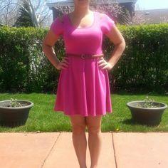 Selling this Pink Cutout Short Sleeve Dress in my Poshmark closet! My username is: conbon811. #shopmycloset #poshmark #fashion #shopping #style #forsale #Dresses & Skirts