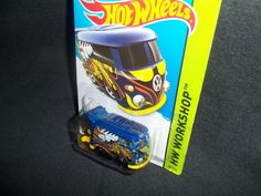 Hot Wheels 2014 VW Volkswagen Kool Kombi Bus HW Workshop HW Garage Blue 201/250 #HotWheels