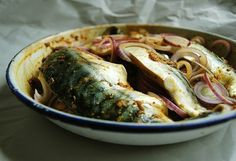 mackerel and Indian spices food