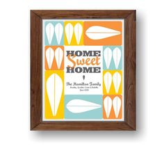 Custom Home sweet home sign, Home Art, Custom Family Sign, Customize gift, Wall Art, Personalized Home Art, Cathrineholm custom print  Home sweet home by ArtMii