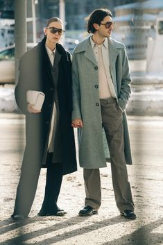 Hilda Sandström + Ludvig Rönn | Stockholm - Adam Katz Sinding Stockholm Fashion Week, Stockholm Street Style, New York Street Style, Autumn Street Style, Cool Street Fashion, Fashion Photo, Autumn Fashion, Coat, Model
