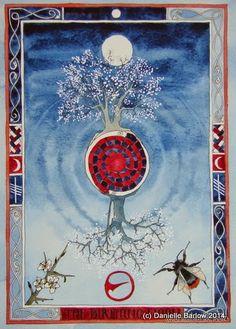 Birthing Moon (I) by Danielle Barlow - associated tree Blackthorn/Straif