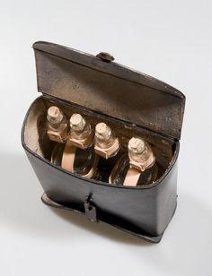 Black leather alchemist or potion bag larp. €75,00, via Etsy. I really like how it's 2 sided. wonderful idea.
