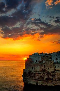 Sunrise in Polignano a Mare, Puglia, Italy