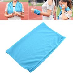 New Exercise Summer Ice Cold Cool Towel Scarf Reuseable Jogging Sports Golf Fitness Blue Hot sell Cold