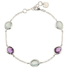 Buy John Lewis & Partners Semi-Precious Stones and Hammered Disc Double Chain Bracelet, Silver/Aqua Chalcedony from our Women's Bracelets range at John Lewis & Partners. Gifts For Mum, Gifts For Women, Mens Sterling Silver Necklace, Amethyst Bracelet, Double Chain, Turquoise Rings, Silver Bracelets, Silver Rings, Rings For Men