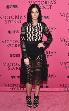 Leigh Lezark from Stars Arrive at the 2015 Victoria's Secret Fashion Show  The DJ turned model poses at the yearly fashion bash.