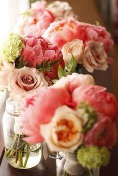 Розовые букетики